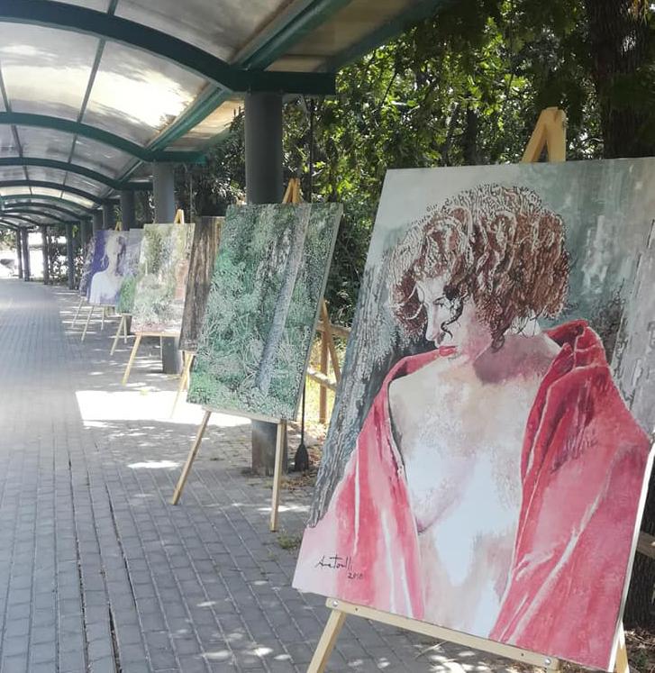 Successo di Anna Tonelli con la sua ''Arte in strada''