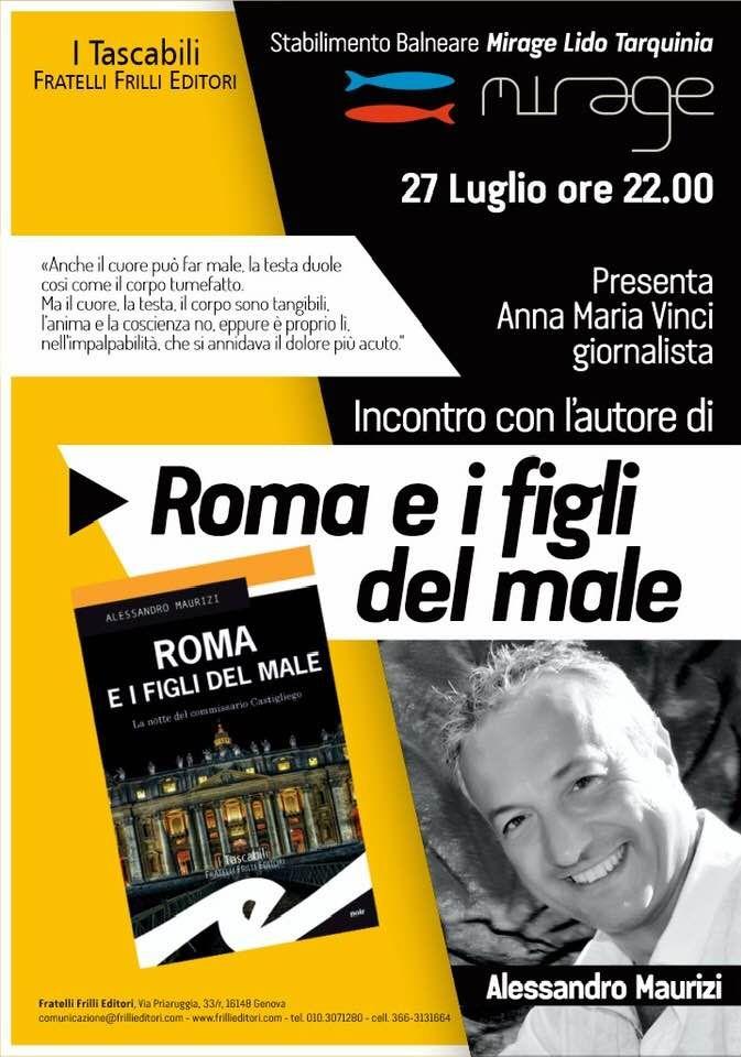 Tarquinia, Alessandro Maurizi presenta ''Roma e i figli del male''