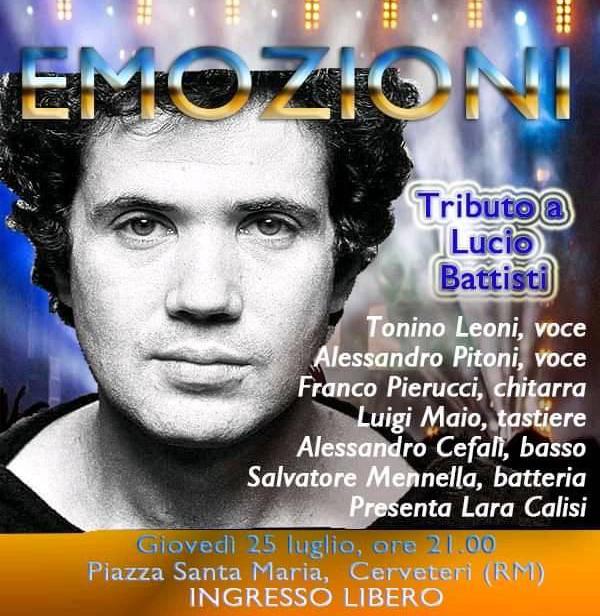 ''Emozioni'': tributo a Lucio Battisti
