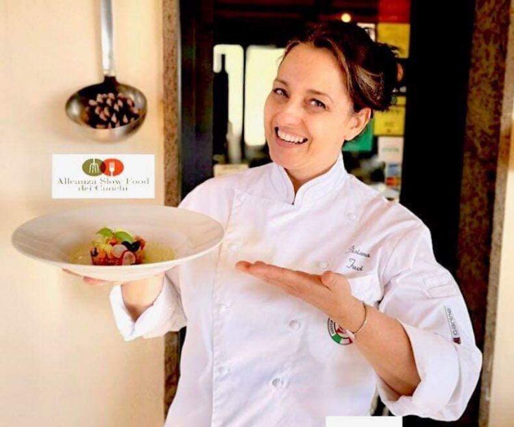 La chef Tiziana Favi di Namo Ristobottega di Tarquinia protagonista allo Slow Food Village a Viterbo