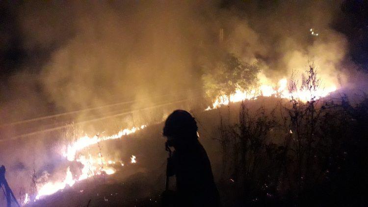 Tarquinia, vasto incendio a Pantano: intervento di Vigili del fuoco e Aeopc