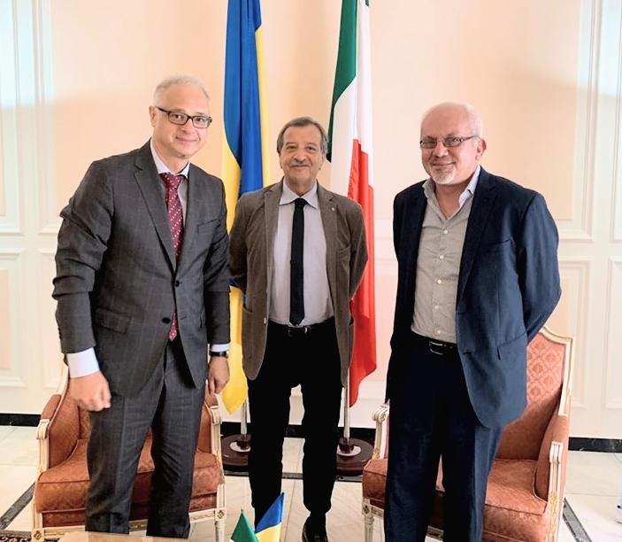 Tidei e D'Emilio ricevuti dall'ambasciatore d'Ucraina in Italia