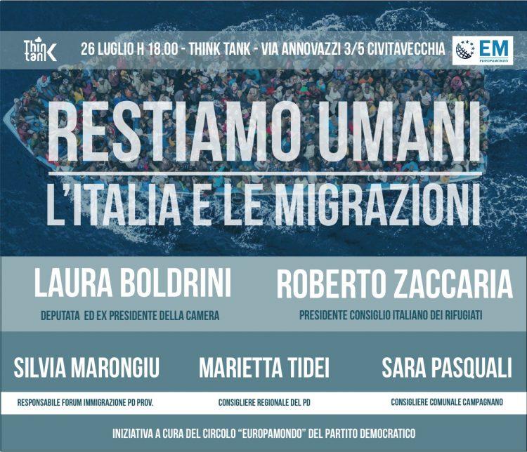 Migranti: se ne parla a Civitavecchia con Laura Boldini