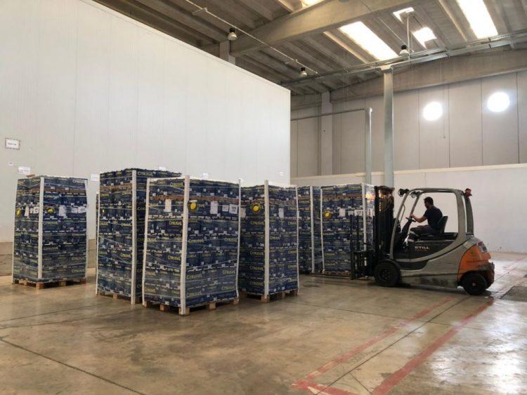 Rinasce l'interporto: arrivati i primi 4 container di agrumi