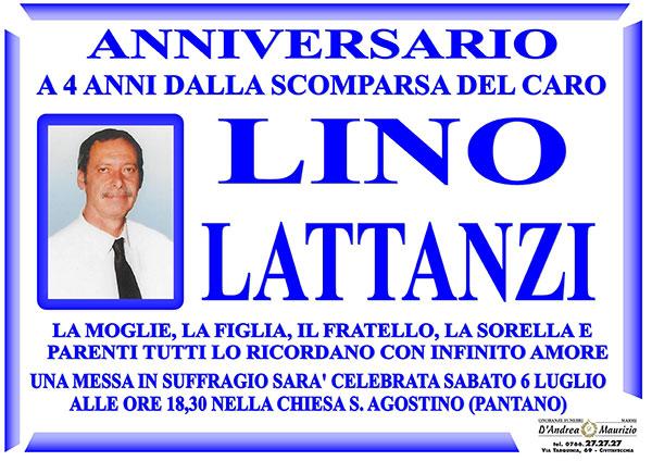 LINO LATTANZI – Anniversario
