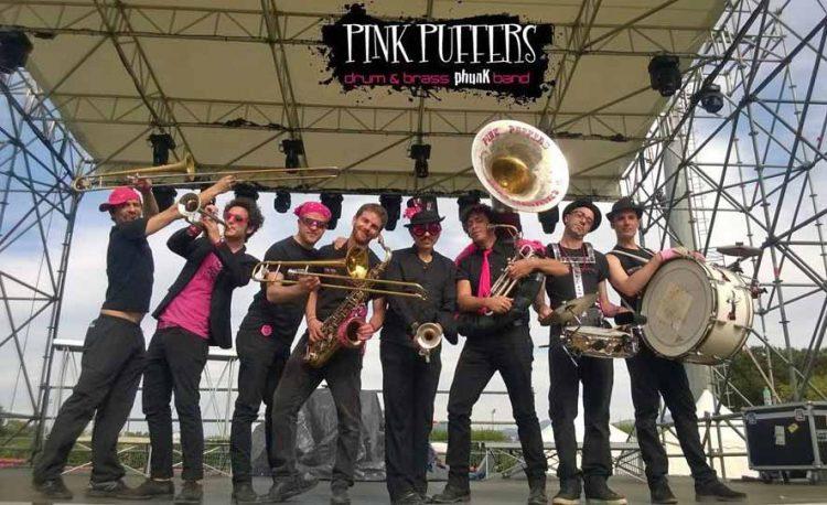 Etruria Street Jazz Festival. Esordio con la Pink Puffers Brass Band
