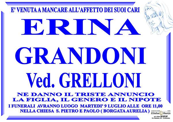 ERINA GRANDONI Ved. GRELLONI