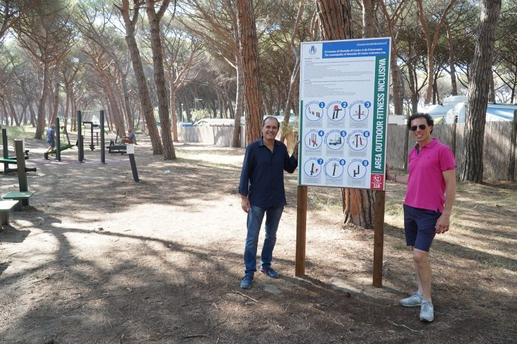 Realizzata l'area fitness nella pineta comunale
