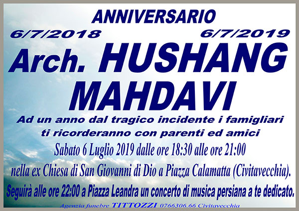 Arch. HUSHANG MAHDAVI