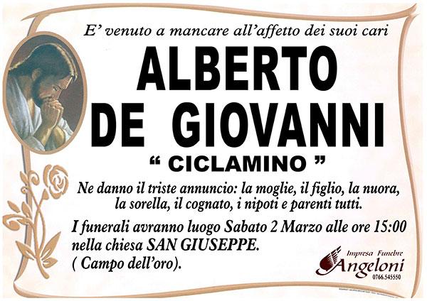ALBERTO DE GIOVANNI ''CICLAMINO''
