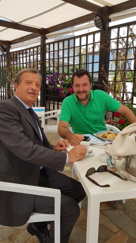 Tidei e Salvini a pranzo a Santa Severa