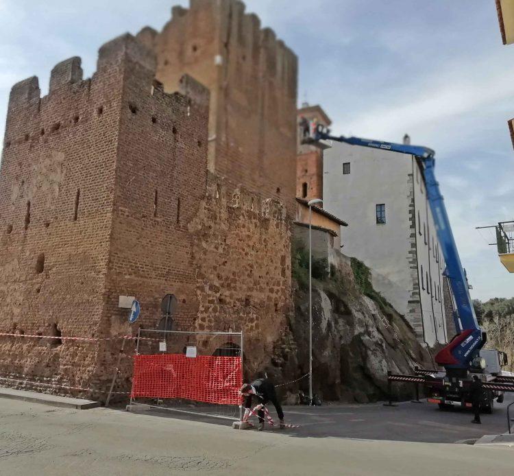 Iniziati i lavori per la messa in sicurezza della Torre medievale