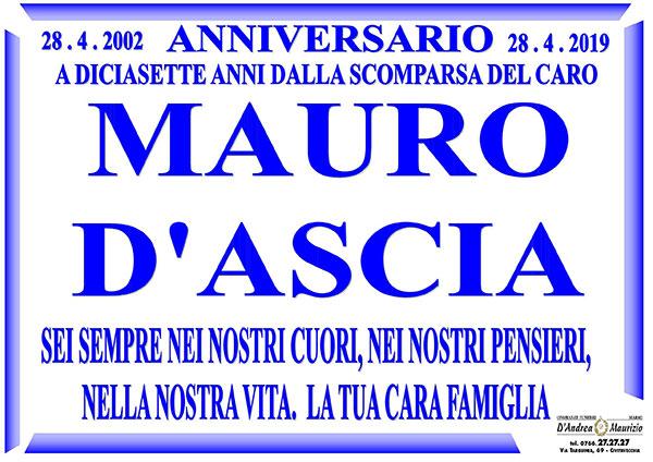 MAURO D'ASCIA – Anniversario