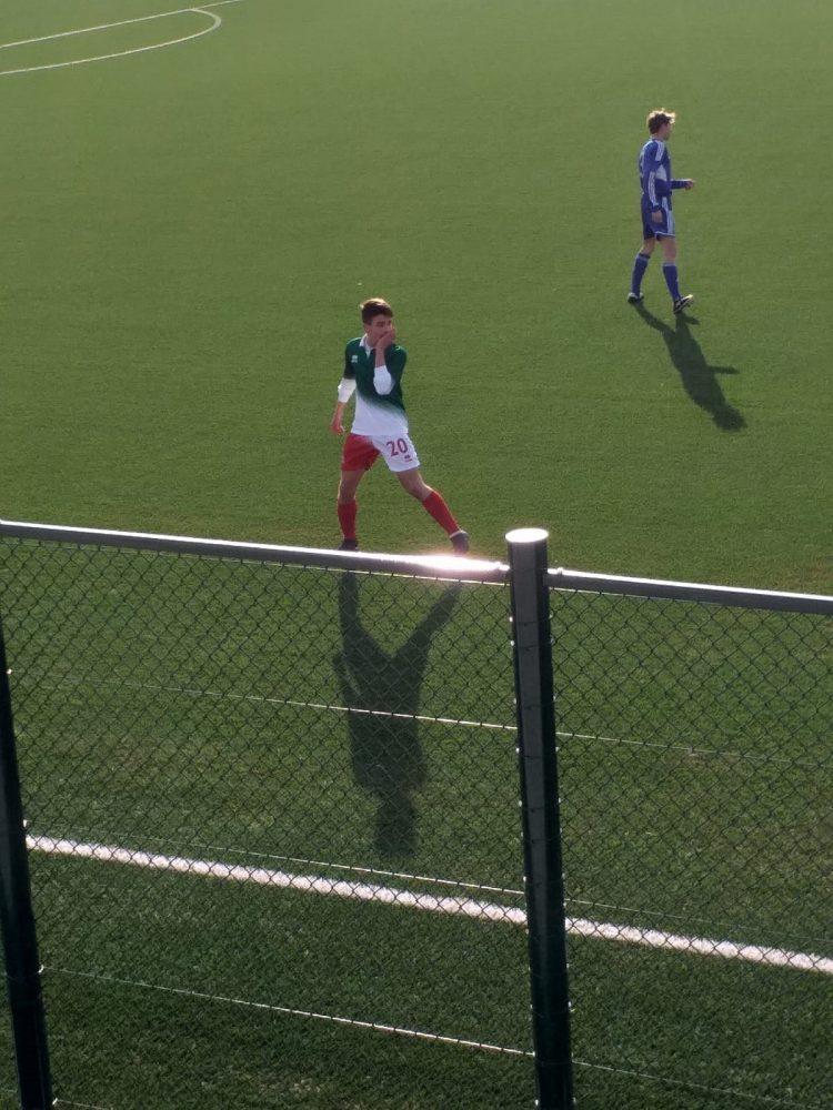 Dario Pomponi con la maglia della Nazionale