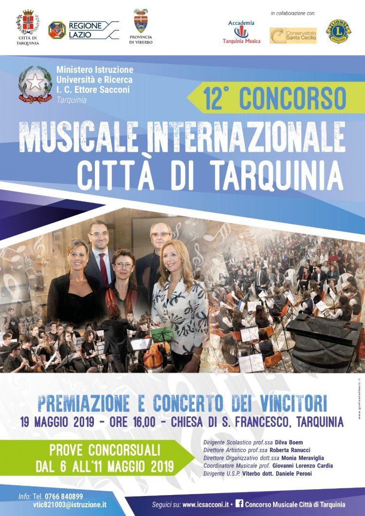 Aprono le iscrizioni al concorso musicale internazionale città di Tarquinia