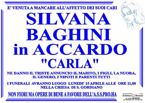 SILVANA BAGHINI in ACCARDO ''CARLA''