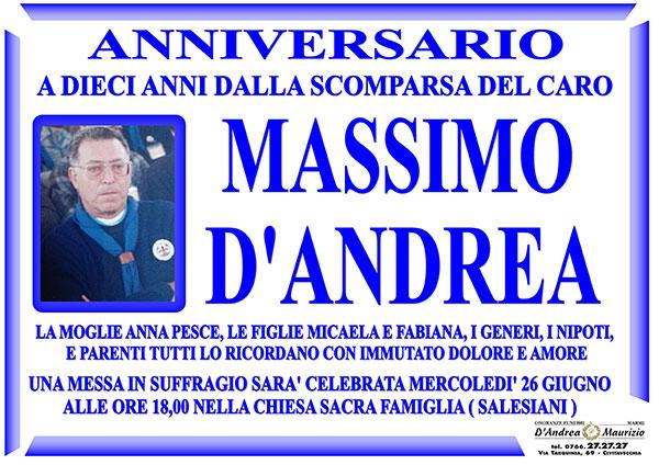 MASSIMO D'ANDREA – Anniversario