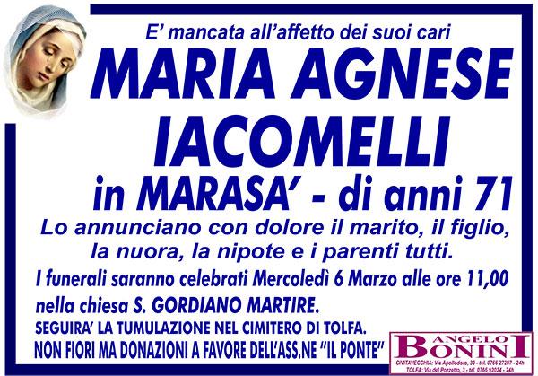 MARIA AGNESE IACOMELLI in MARASÁ di anni 71