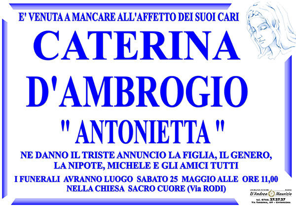 CATERINA D'AMBROGIO ''ANTONIETTA''