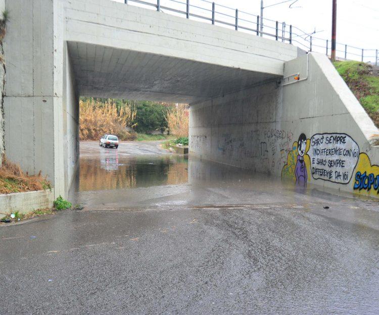 Maltempo: chiuso il sottopasso di Fiumaretta