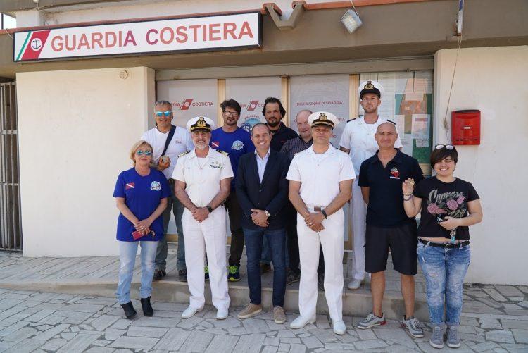 Capitaneria, visita del comandante Leone alla delegazione di spiaggia di Montalto