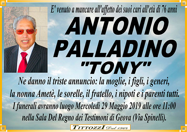 ANTONIO PALLADINO ''TONY''