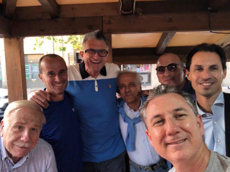 L'ex campione del mondo del volley Andrea Lucchetta a Civitavecchia