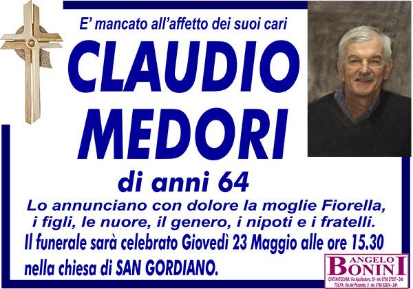 CLAUDIO MEDORI di anni 64