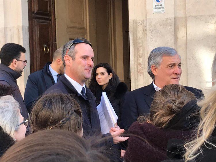 Ragazzi Erasmus ospiti di Battilocchio alla Camera incontrano Tajani