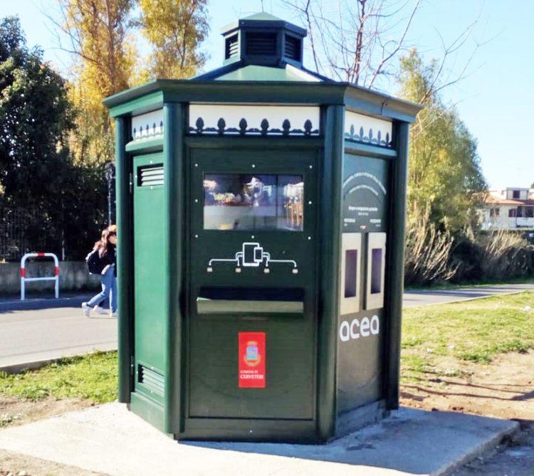In funzione la casetta dell'acqua Acea a Parco Borsellino