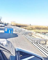 Ponte della Scafa, crolla la protezione