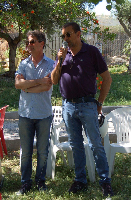 Il sindaco Giulivi e la delegata Iacobini ieri in visita a Semi di pace