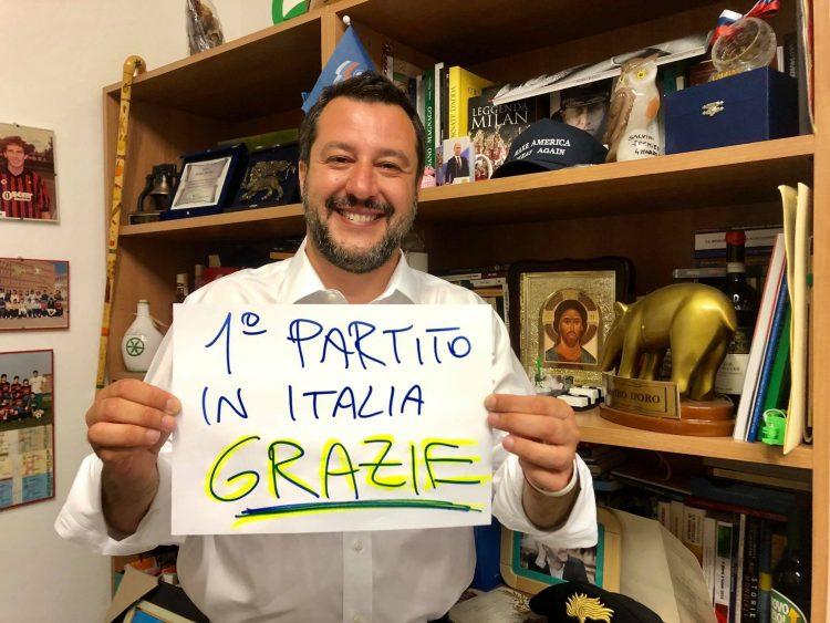 Europee, la Lega primo partito d'Italia