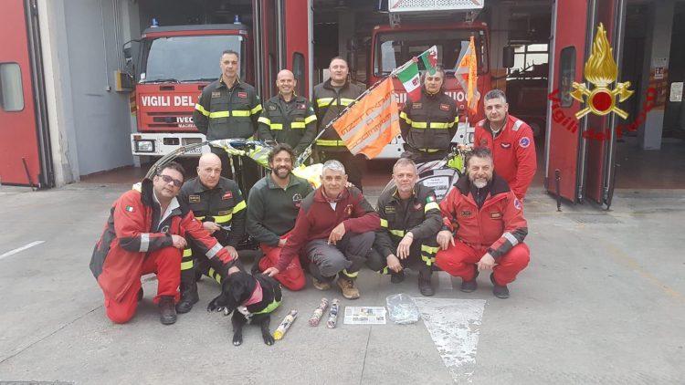 Pompiere ambientalista in visita alla Bonifazi