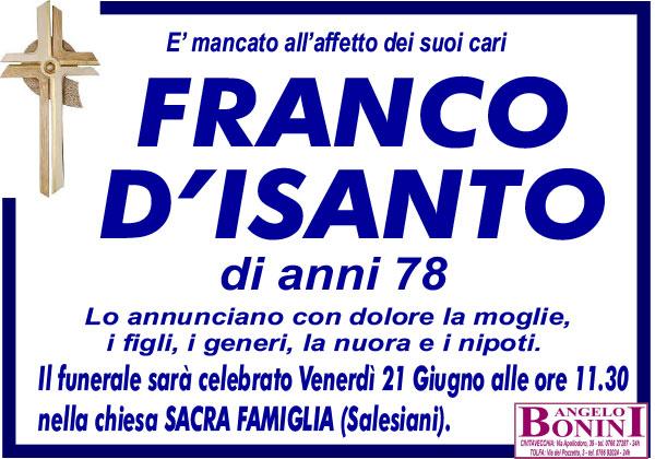 FRANCO D'ISANTO di anni 78