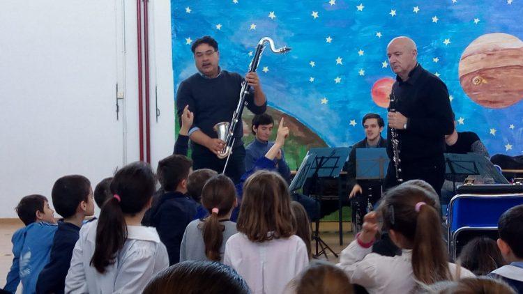 Lezione concerto per i ragazzi di Pescia Romana