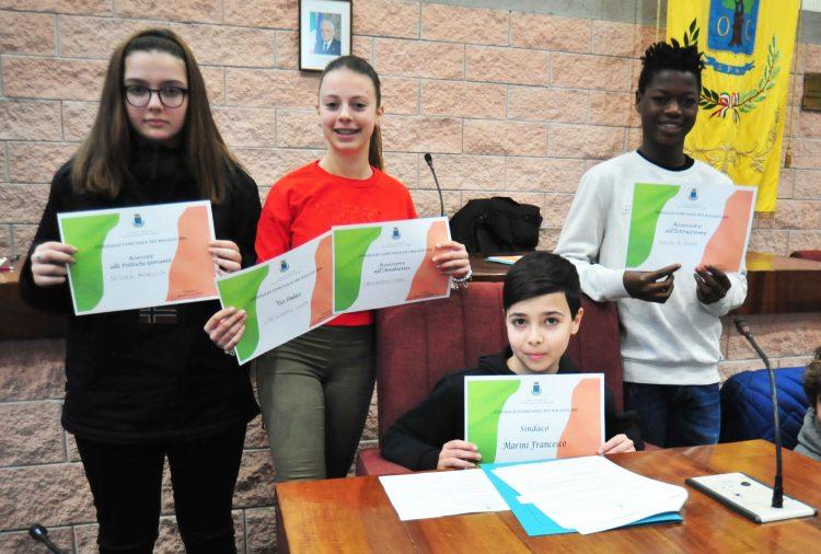 Consiglio comunale dei ragazzi, nominata la giunta