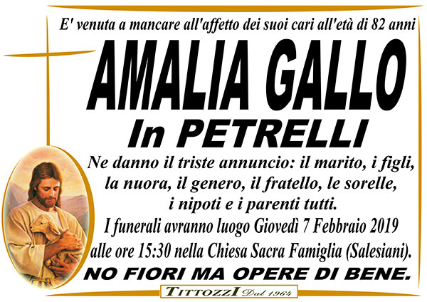 AMALIA GALLO in PETRELLI