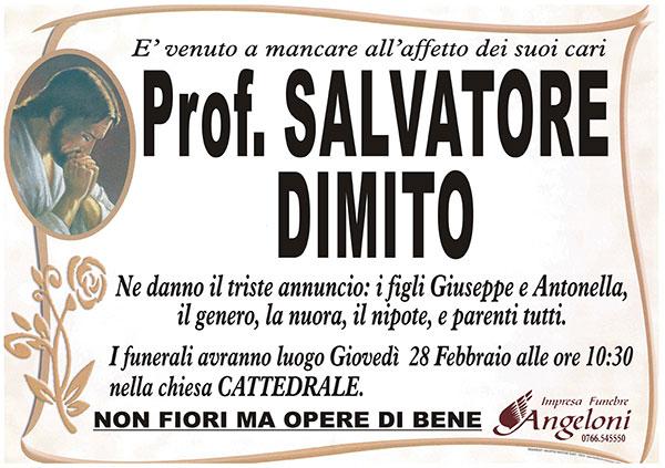 PrOf. SALVATORE DIMITO