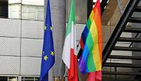 Sul Comune sventola la bandiera arcobaleno
