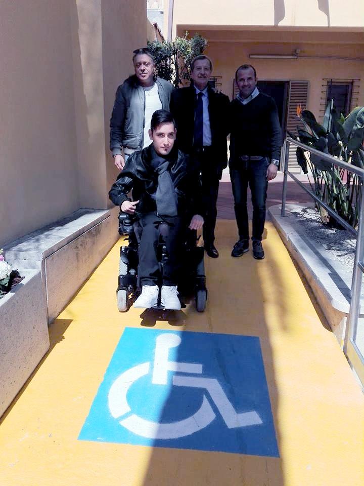 La rampa per disabili è realtà
