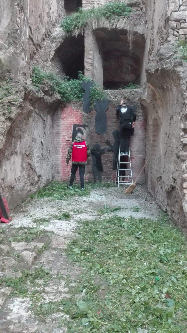 Via Trieste, CasaPound riqualifica ''Il luogo della memoria''