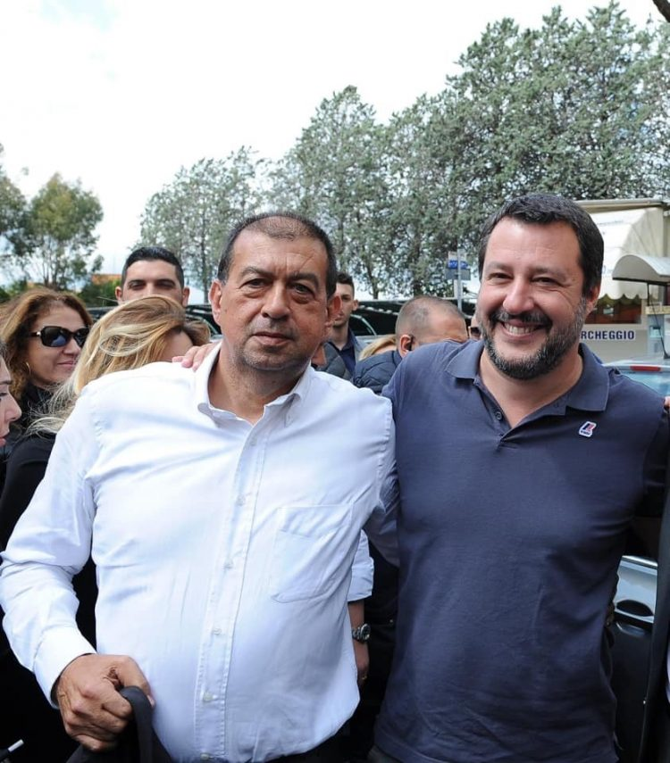Matteo Salvini il primo maggio a Tarquinia
