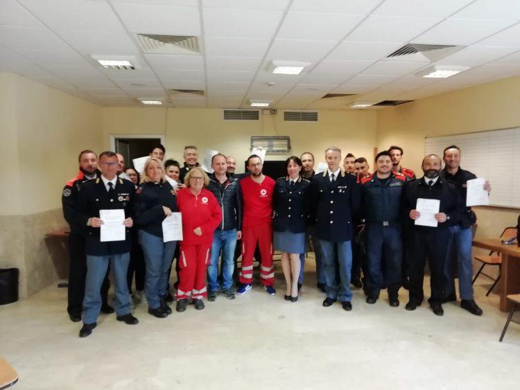 Uso del defibrillatore: Polizia di frontiera a lezione dalla Cri