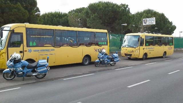 Tarquinia, fermati due scuolabus irregolari
