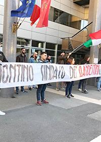 CasaPound in piazza contro Montino