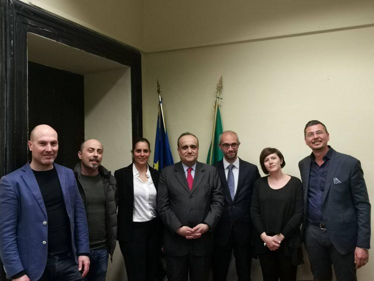 Visita al Pincio per il ministro Bonisoli