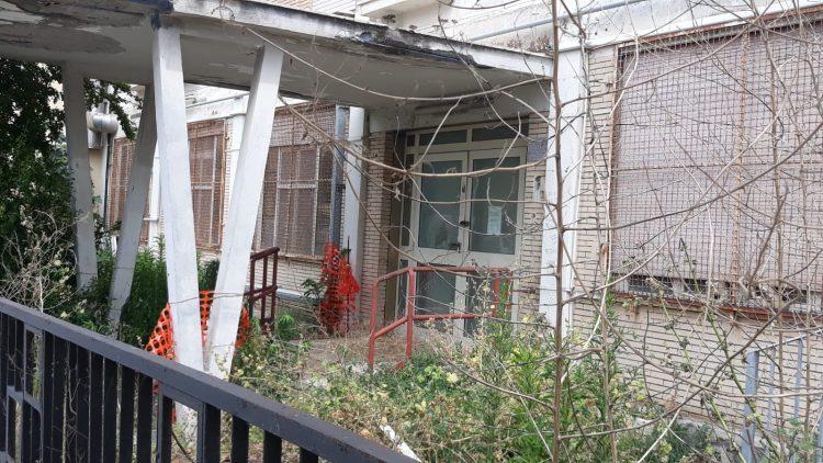 Una giungla nel cortile dell'ex alberghiero
