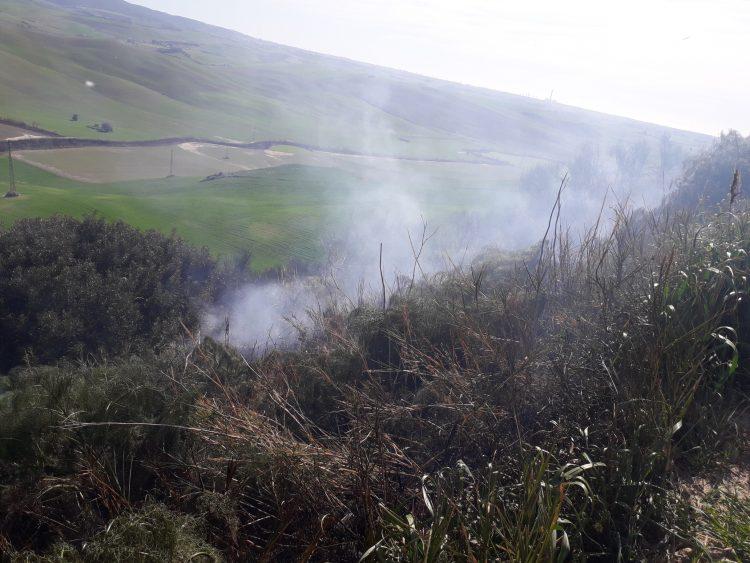 Vasto incendio in località Pisciarello