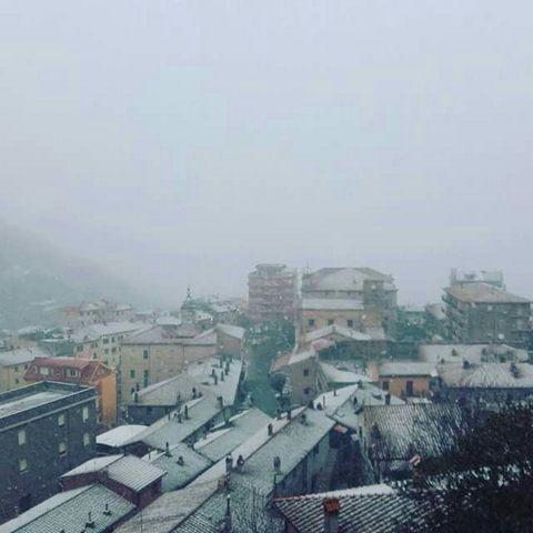 Primi fiocchi di neve ad Allumiere